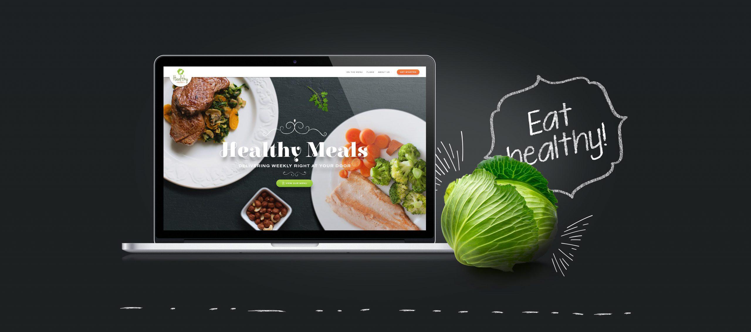 Website design for a healthy meals brand