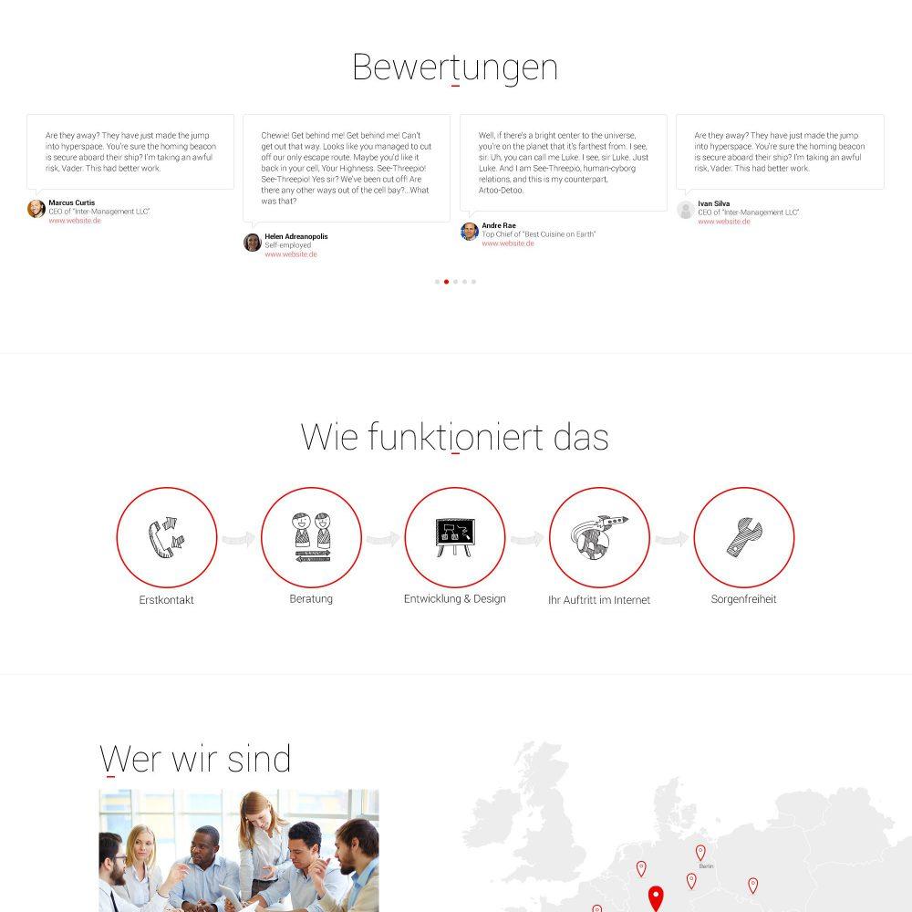 Digital agency website design: desktop view