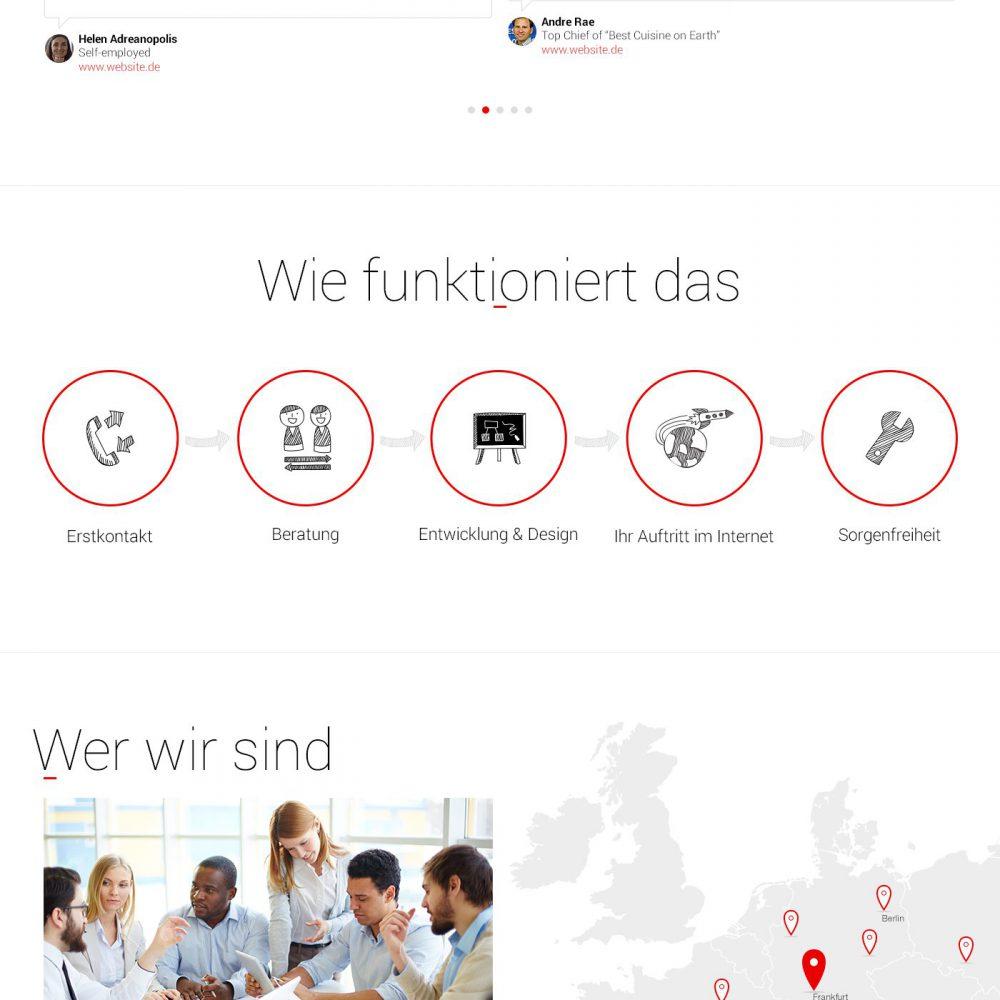 Digital agency website design: tablet mode