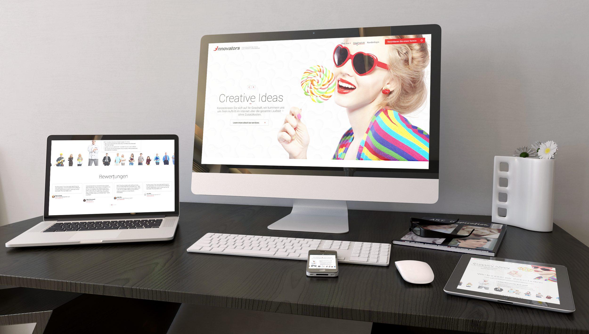 Responsive we design for a digital agency